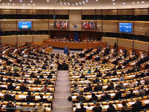 Inside the European Parliament Brussels