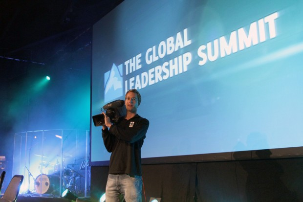 benjamin on stage at global leadership summit 2011