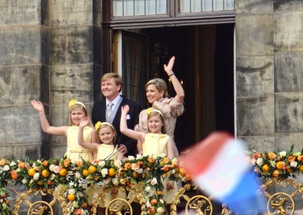 Koning Willem Alexander - Koningin Maxima - Amalia - Alexia - Ariane - kroning Amsterdam