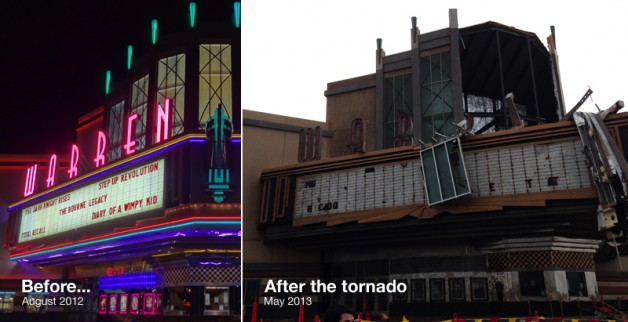 Moore IMAX before and after tornado