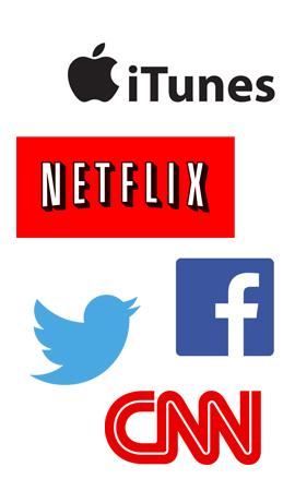 logos netflix cnn facebook twitter