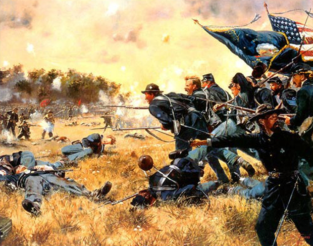 American Civil War musket close formations