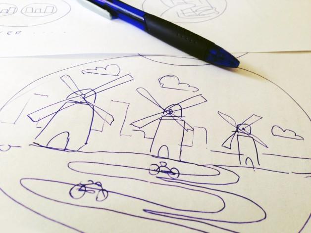 sketch-to-illustration-Kiozk-windmill